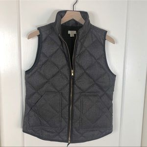 JCrew Men's Down Filled Quilted Vest Gray Small